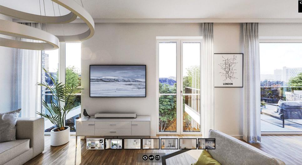 Bild Rundgang in einer Wohnung